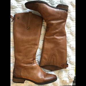 Sam Edelman Tan Leather Penny Riding Boot Size 12